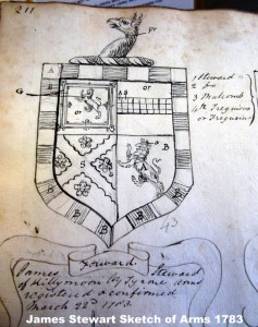 Stewart Tyrone Coat of Arms James Sketch o 1783